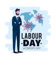 elegant businessman to celebrate labour day vector image