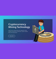 ethereum crypto currency flat poster vector image vector image