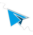 flat continuous line art paper plane concept vector image vector image