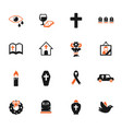 funeral services icon set vector image vector image