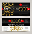 Gift voucher template design with glitter gold vector image vector image