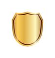 gold shield shape icon 3d golden emblem sign vector image