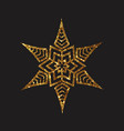golden glitter retro plant deocration flat icon vector image vector image