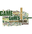 got game text background word cloud concept vector image vector image