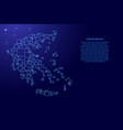 greece map from blue pattern from a grid of vector image vector image