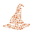 halloween hat vector image vector image
