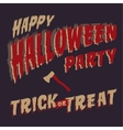 halloween party design template vector image vector image