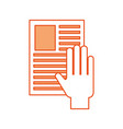 hand human with document vector image