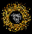 handmade lettering with circle made of golden vector image vector image