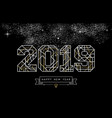 happy new year 2019 gold deco geometry outline vector image vector image