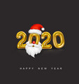 happy new year gold metallic numbers 2020 vector image vector image