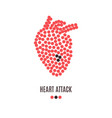 heart attack awareness poster vector image