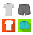 isolated object of man and clothing icon set of vector image