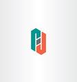 letter p and d logo symbol element vector image