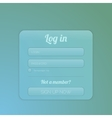 login form ui element vector image vector image