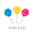 lollipop with sequins texture vector image