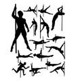 male pole dance detail silhouette vector image