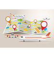 Map with Planes and Destination vector image vector image