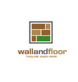 modern and simple tile wooden flooring logo vector image vector image