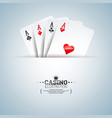 on a casino theme with poker vector image vector image