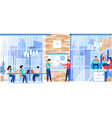 people working in modern spacious business company vector image vector image