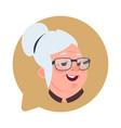 profile icon senior female head in chat bubble vector image vector image