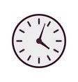 purple clock icon vector image vector image