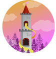 rapunzel in the tower vector image vector image