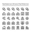 real estate line icon vector image