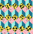 retro 80s seamless pattern background vector image vector image