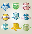 Sales New Premium Quality Labels set vector image vector image