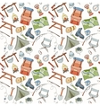 Seamless camping pattern vector image vector image