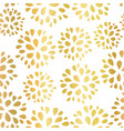 seamless floral gold foil pattern vector image