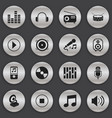 set of 16 editable media icons includes symbols vector image vector image