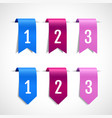 set of colored decorative ribbons tags vector image vector image