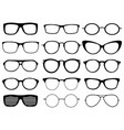set of custom glasses isolated on white background vector image