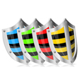 Set Shield Safety vector image vector image