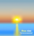 sun rise background vector image