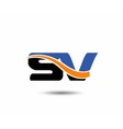 SV company linked letter logo vector image vector image