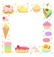 sweet confection frame vector image vector image