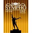 Sympho Vienna Live Concert Concept vector image