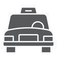taxi glyph icon traffic and car cab sign vector image vector image