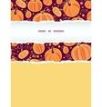 thanksgiving pumpkins vertical torn frame seamless vector image