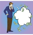 thinking businessman in vector image vector image