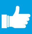 thumb up sign icon white vector image vector image