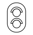 traffic light railway icon outline style vector image vector image