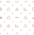 triangle icons pattern seamless white background vector image vector image