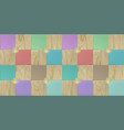 wallpaper design with wooden and multicolored vector image vector image