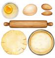 watercolor recipe preparation ingredients vector image vector image