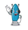 with headphone iron board mascot cartoon vector image